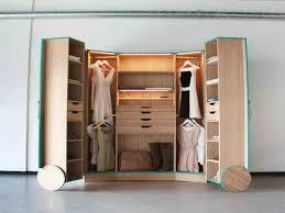furniture futuristic large modern u shape brown vernished walk in