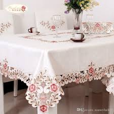 pale pink table cover european white jacquard cloth embroidered tablecloths pale pink