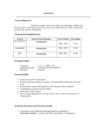 Mba Fresher Resume Sample by Resume Career Objective For Fresher Contegri Com