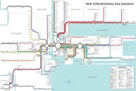 New York Penn Station Map Unofficial Map New York Regional Rail By Carter Transit Maps