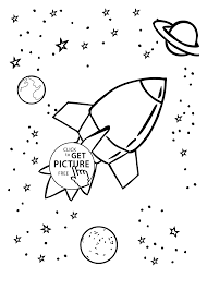 rocket with planets coloring for website inspiration planet