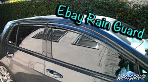 Exterior Door Rain Deflector by Ebay Rain Guards Mk7 Gti Youtube