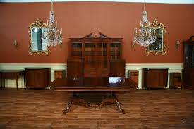 Expandable Conference Table Reproduction French Style Mahogany Dining Or Conference Table