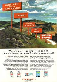 Burma Shave Meme - the motion graphic ads of burma shave 1927 1963 inspiration for