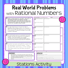 5 rational numbers activities education pinterest rational