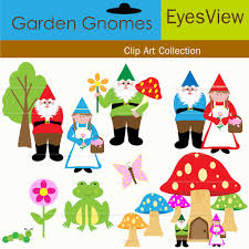 gnomes clipart hand drawn clipart by toadstoolprintables on etsy
