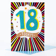 giant 18th birthday card glittery 18 today only 99p