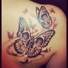 skull butterfly skull tattoos butterflies skulls