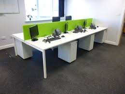 White Office Desks 74 Person White Bench Desk Install A1 Office Furniture