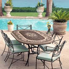 Mosaic Bistro Table Knf Garden Designs Knf Mosaic Bistro Table 84x48