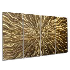 Modern Wall Art Amazon Com Electrifying Modern Earthtone Hand Etched Metal