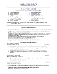 Resume Format For Experienced Mechanical Design Engineer Resume Samples For Design Engineers Mechanical Resume For Your