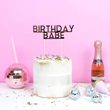 birthday cake drink birthday u0027 cake topper by all her glory notonthehighstreet com
