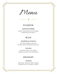 5 course menu template menu templates canva