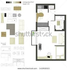 Scale Floor Plan Floor Plan Furniture Stock Images Royalty Free Images U0026 Vectors