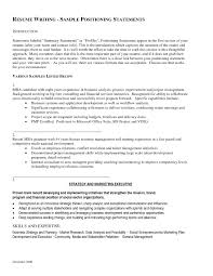 Targeted Resume Example Resume Examples Sample Profile Statements For Resumes Of