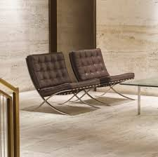 101 ludwig mies van der rohe barcelona chairs from the entrance