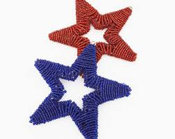 Beaded Home Decor Beaded Star Ornament Etsy