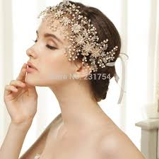 hair pieces for wedding luxurious handmade pageant prom headband imitate pearl rhinestone