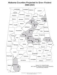 County Map Of Alabama Center For Business And Economic Research The University Of Alabama