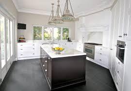 Marble Kitchen Designs Grey Wooden Flooring Exquisite White Painted Woooden Kitchen