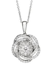 knot pendant necklace images Wrapped in love diamond knot pendant necklace in 14k white gold 1 tif