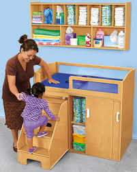 Changing Table For Daycare Step On Up Toddler Changing Table 749 00 Changing Station Wall