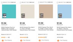 home depot behr paint samples 1 94 shipped