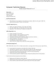 computer technician resume sample u2013 topshoppingnetwork com