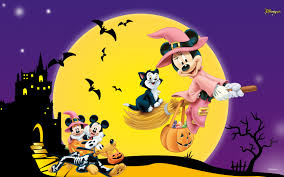 cute scary disney happy halloween wallpaper for