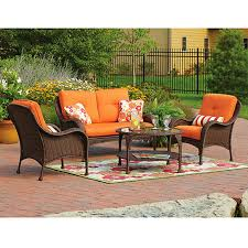 Patio Chairs With Cushions Replacement Cushions For Patio Sets Sold At Walmart Garden Winds