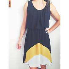 65 off sweet storm dresses u0026 skirts yellow white and navy
