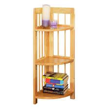 Glass Corner Shelves For Bathroom by Small Corner Shelf White Wooden Corner Shelf Unit Wood Corner