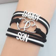 infinity love leather bracelet images Fashion infinity love letters daddy love son bracelets charm jpg