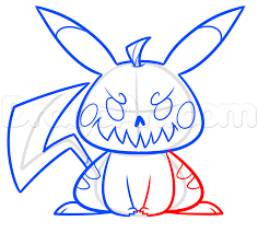 how to draw halloween pikachu step by step halloween seasonal