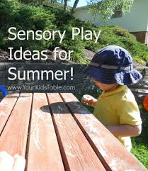 sensory play ideas for summer your kid u0027s table