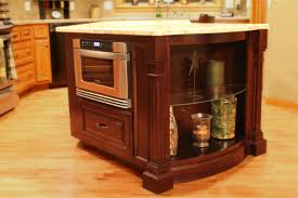 home accessories elegant kitchen island with microwave drawer for