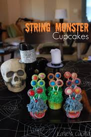 Monster House Halloween by String Monster Cupcakes Katie U0027s Cucina