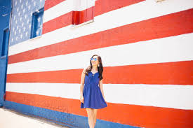 Red White Striped Flag Red White U0026 Blue Fourth Of July Dress Color U0026 Chic