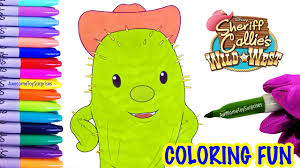 toby the cactus coloring page fun sheriff callie wild west