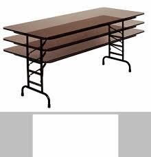 Adjustable Height Folding Table Counter Height Rectangular Melamine Top Folding Work Table 72 U0027 U0027d