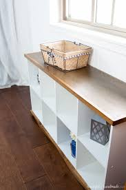 Farmhouse Console Table Farmhouse Console Table Diy From Cube Bookcase A Houseful Of
