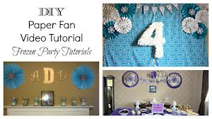 backdrop paper diy paper fan tutorial frozen party backdrop the bajan texan