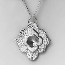 large silver necklace pendants images Long handmade sterling silver necklace by lizardi jewelry jpg