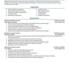 Labourer Resume Examples by Cool Idea General Laborer Resume 2 Best General Labor Resume