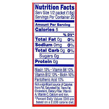 Light Energy Facts Crystal Light Energy Drink Mix Powder Strawberry Walgreens