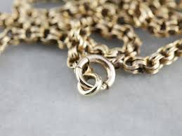 vintage gold chain necklace images Vintage double link gold chain necklace jpg