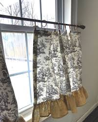 Toile Cafe Curtains Toile Cafe Curtain By Rusticfrenchdecor On Etsy Decorators