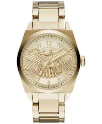 gold bracelet mens watches images Lyst armani exchange a x men 39 s gold tone stainless steel jpeg