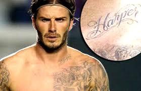 david beckham chest tattoos beckham tattoos